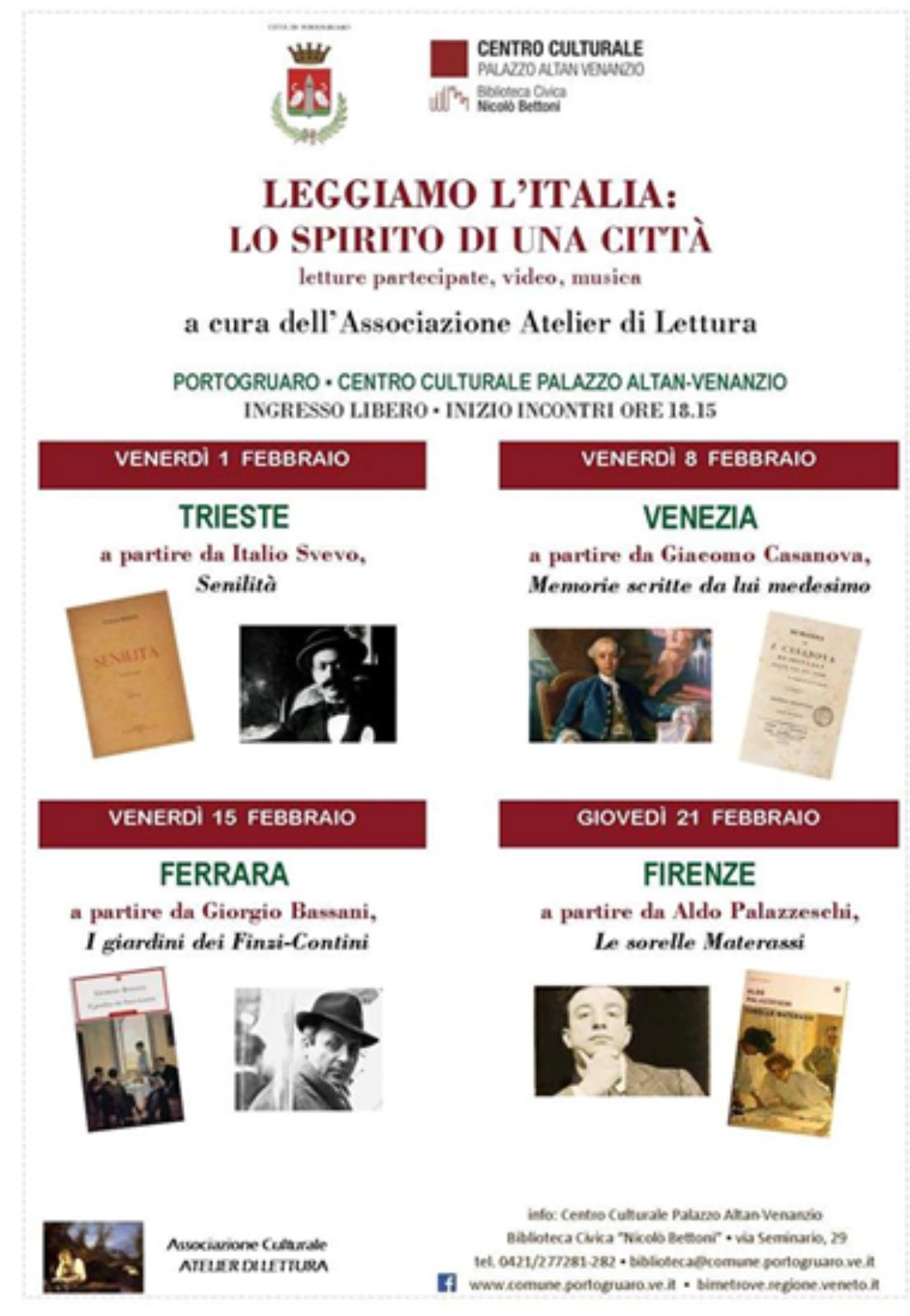 Centro Del Materasso Trieste.Portogruaro 1feb Atelier Di Lettura